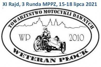 Rajd Motocykli Zabytkowych w ramach rundy MPPZ - Płock, lipiec 2021